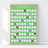 Gift Republic 100Lugares–Scratch Off Cubo Lista Póster, Verde