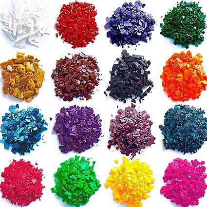 OeyeO DIY tinte de cera 24 colores vela tinte, copos de tinte para velas Kit de suministros cada color suficiente para teñir 5 lb velas