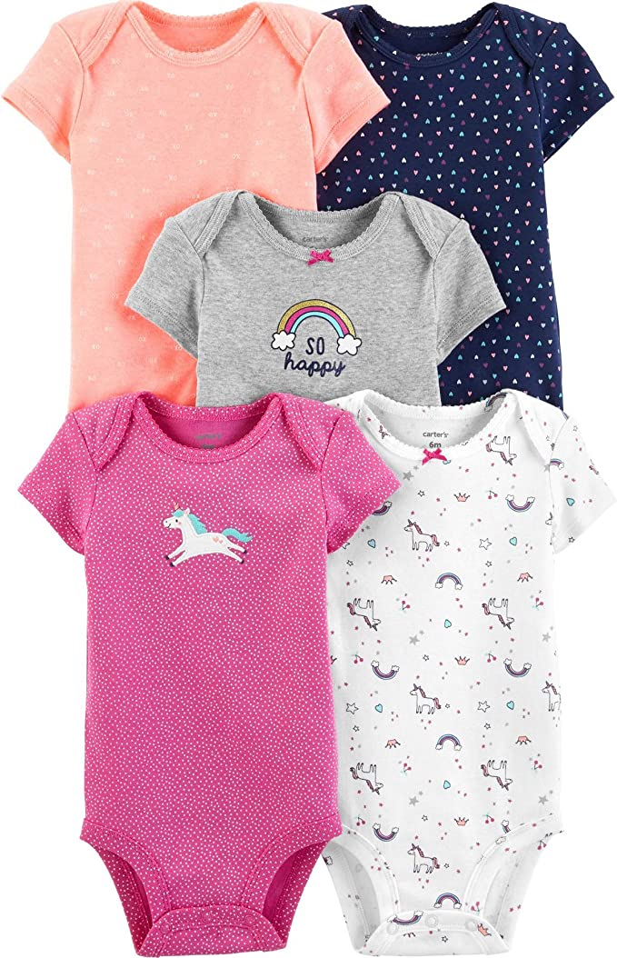 New Carter/'s Baby Rompers for Girl/'s Size 12 mo Choose Flamingo Or Kitty
