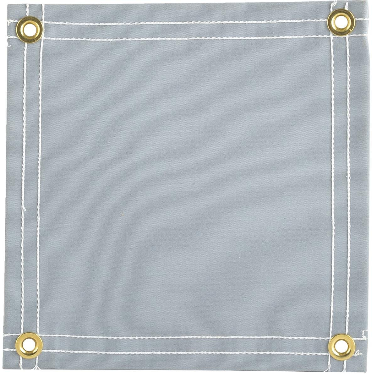 GEMPLER'S Weather Tough Super Tarp, 10'X12' Gray Ultra-Strong Breathable Waterproof Poly/Canvas Blend Tarpaulin with Brass Spur Grommets