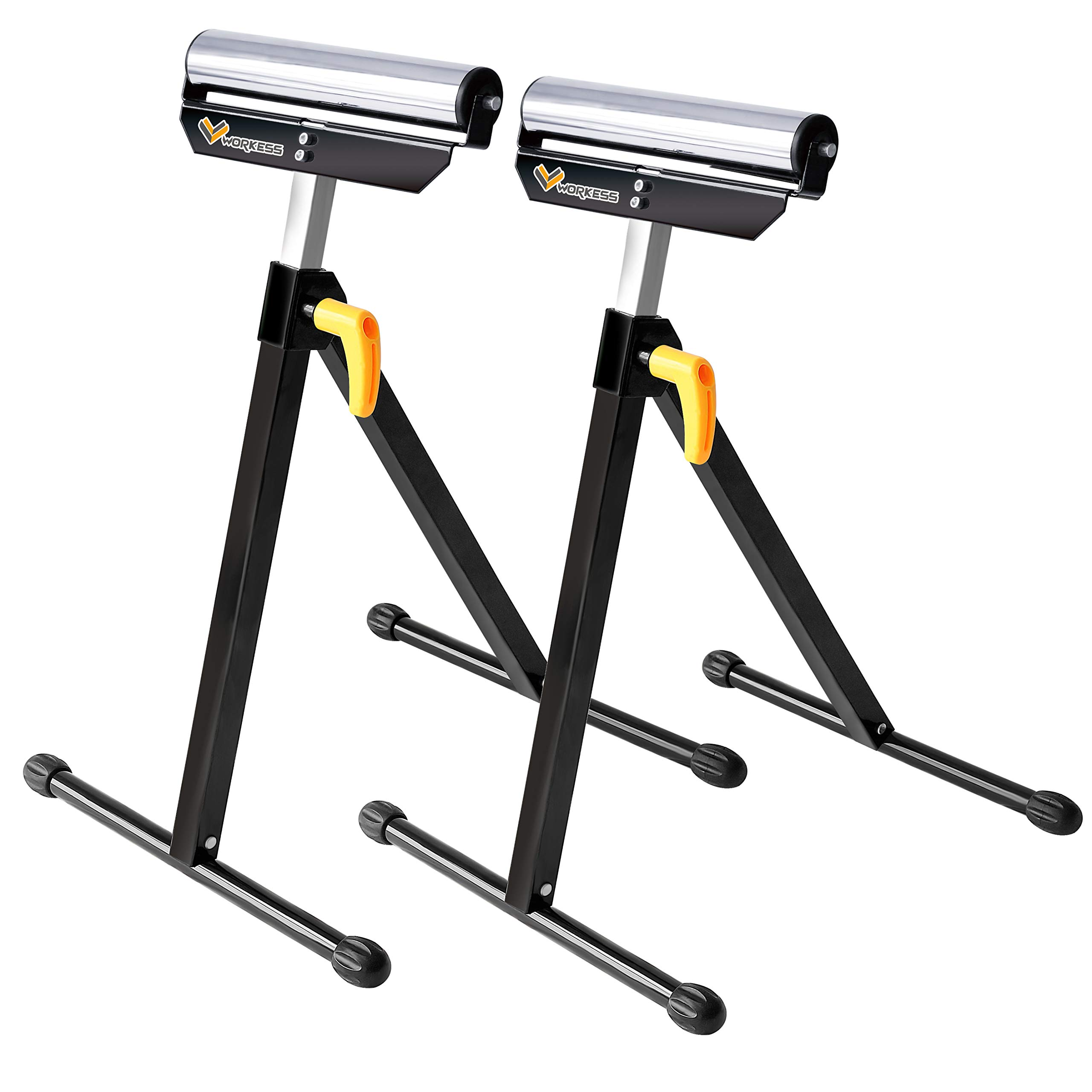 Single Roller Support Stand 132 Lbs Load Capacity, Twin Pack WK-RS004T by WORKESS