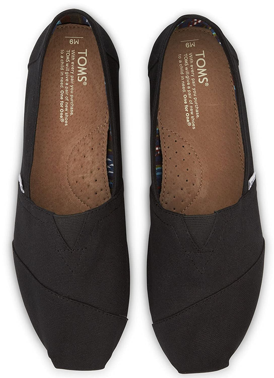 Amazon.com | TOMS Mens Classics Black/Black Canvas 10002931 Mens 10 | Loafers & Slip-Ons