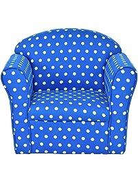 Costzon Kids Sofa Armrest Chair Couch Children Living Room Toddler  Furniture (Dot, Blue)