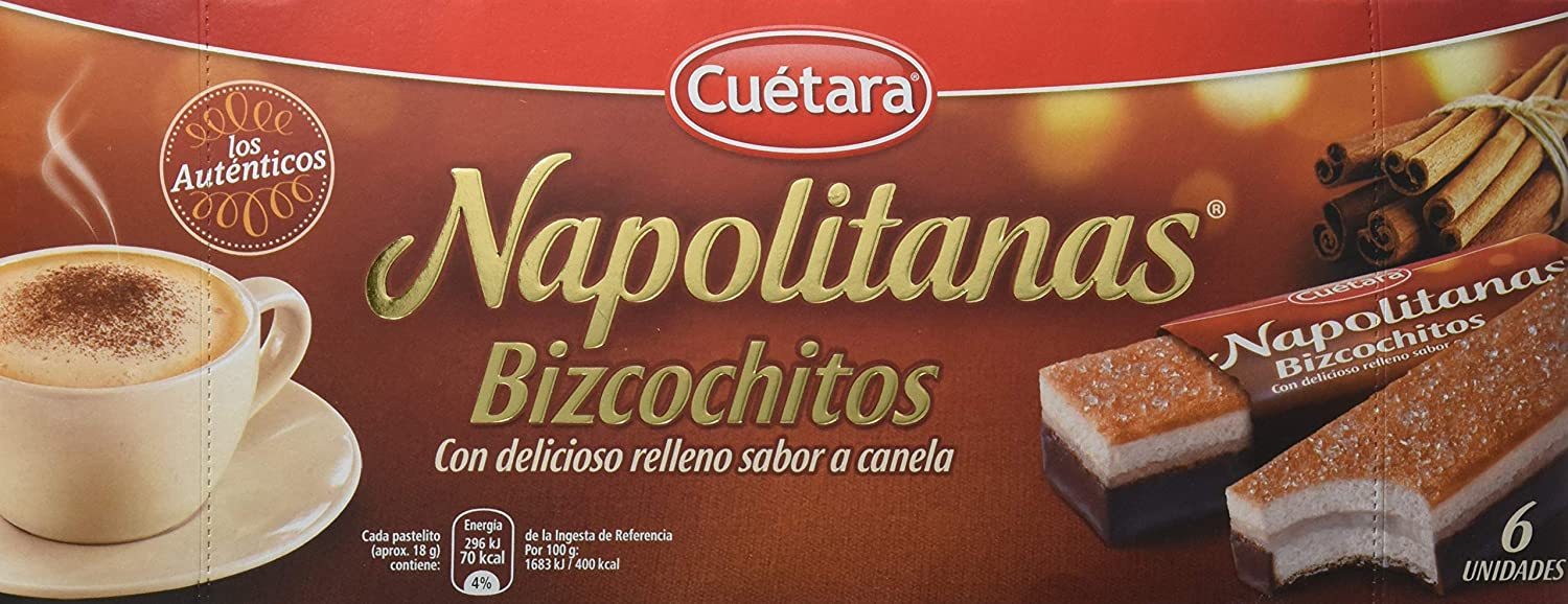 Napolitanas Bizcochitos, pack of 6 unidades: Amazon.es: Alimentación y bebidas