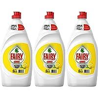 Fairy Plus Lemon Dishwashing Liquid Soap With Alternative Power To Bleach, 3 x 600 ml '