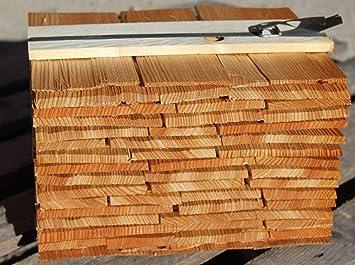 2 Qualität Lärchenholzschindeln 20cm