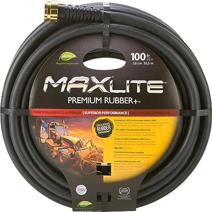 Swan Products ELSGC58100 Premium Rubber Garden MaxLite Hose, 100 Ft, Black
