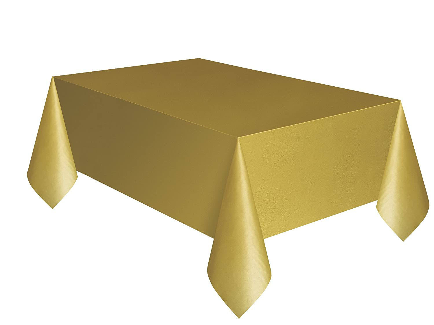 Amazon.com: Gold Plastic Table Cover 54u0027u0027 X 108u0027u0027 Rectangle: Party  Tablecovers: Kitchen U0026 Dining