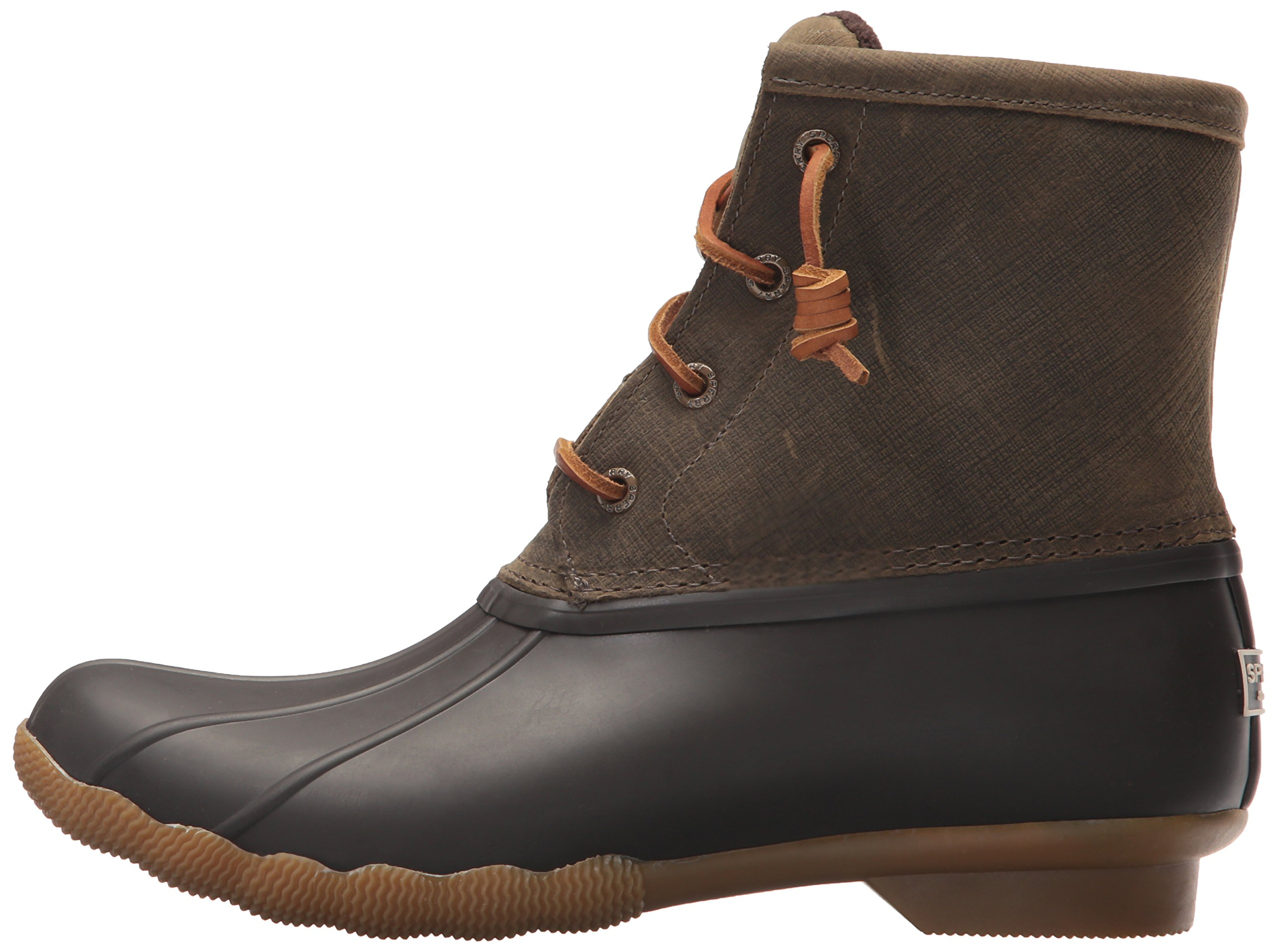 Sperry Top-Sider Women's Saltwater Rain Boot, Brown/Olive, 11 Medium US by Sperry Top-Sider (Image #5)