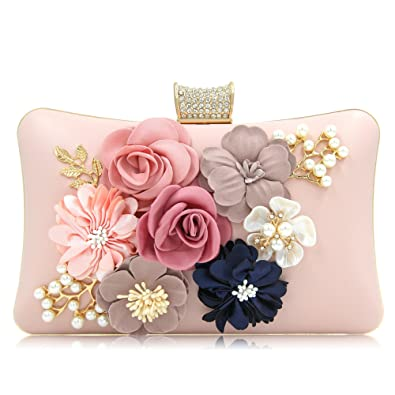 Milisente women clutches purses bags flower evening bag wedding milisente women clutches purses bags flower evening bag wedding clutches light pink handbags amazon mightylinksfo