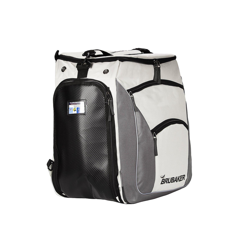 fc2f60318064a Brubaker Skischuhtasche PROFESSIONAL für Schuhe und Helm mit Rucksack- Tragegurten und Schaum-Rückenpolster Silber Grau  Amazon.de  Sport    Freizeit