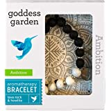 Goddess Garden - Ambition Aromatherapy Bracelet - On-the-Go Essential Oil Diffuser Jewelry, Genuine Stones, Natural Beads, Ba