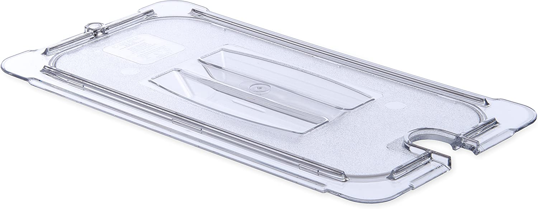 Carlisle 10271U07 StorPlus Third Size Polycarbonate Universal Handled Notched Food Pan Lid, Clear