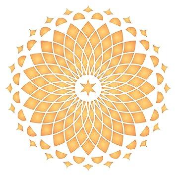 Mandala de pared plantilla - reutilizable de pared plantillas para pintar - mejor calidad Decor Ideas - uso en paredes, suelos, tejidos, cristal, madera, ...