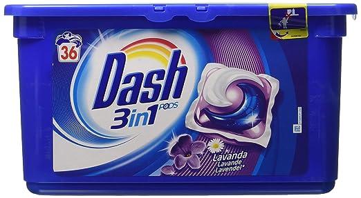 31 opinioni per Dash, Detersivo per Lavatrice con Profumo di Lavanda, 36 ecodosi, 1076.4 g