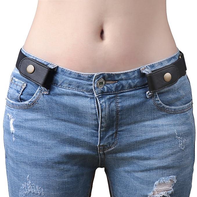 Amazon.com: Cinturón elástico sin hebilla para mujer para ...