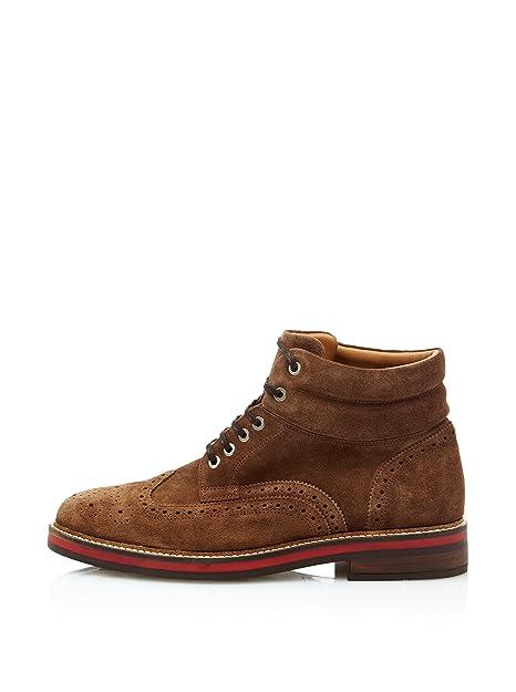 Cortefiel Botines Serraje Marrón EU 43: Amazon.es: Zapatos y complementos