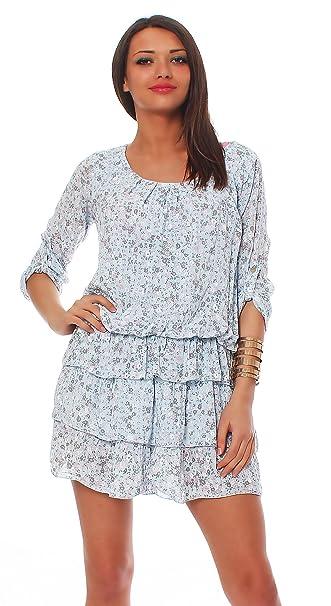 Moda Italy Blusa la túnica Un poquito la mini el vestido de verano el rock el