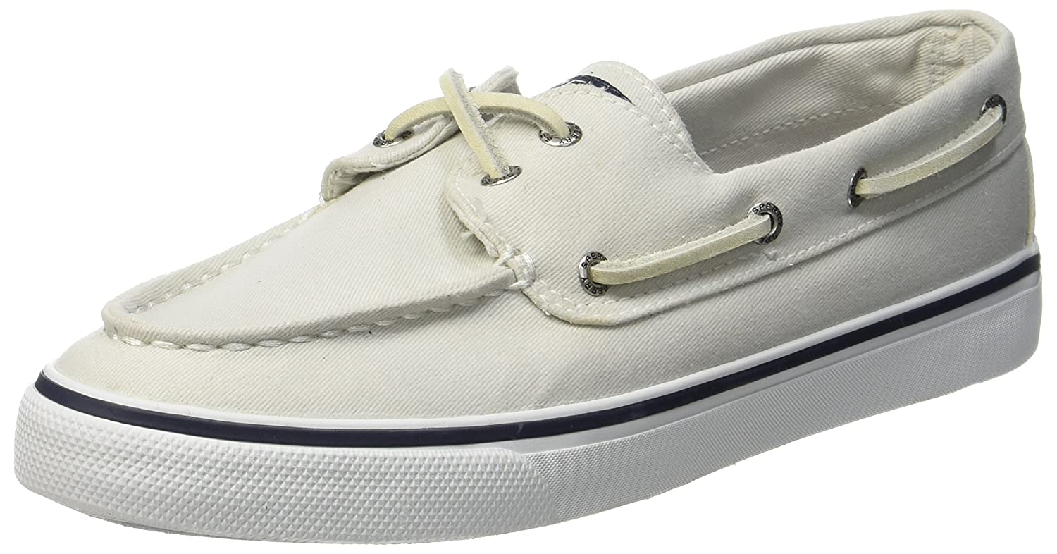 Sperry Womens Bahama Canvas Boat Shoes Black