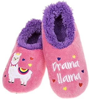 Snoozies Ladies Fun Boozies Sherpa Fleece Non Slip Slippers Procesco Princess M