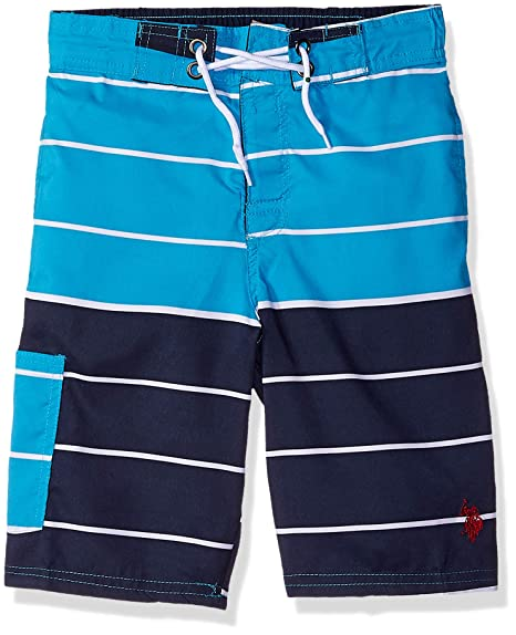 U.S. Polo Assn. Bañador de Rayas horizontales para Hombre - Azul ...