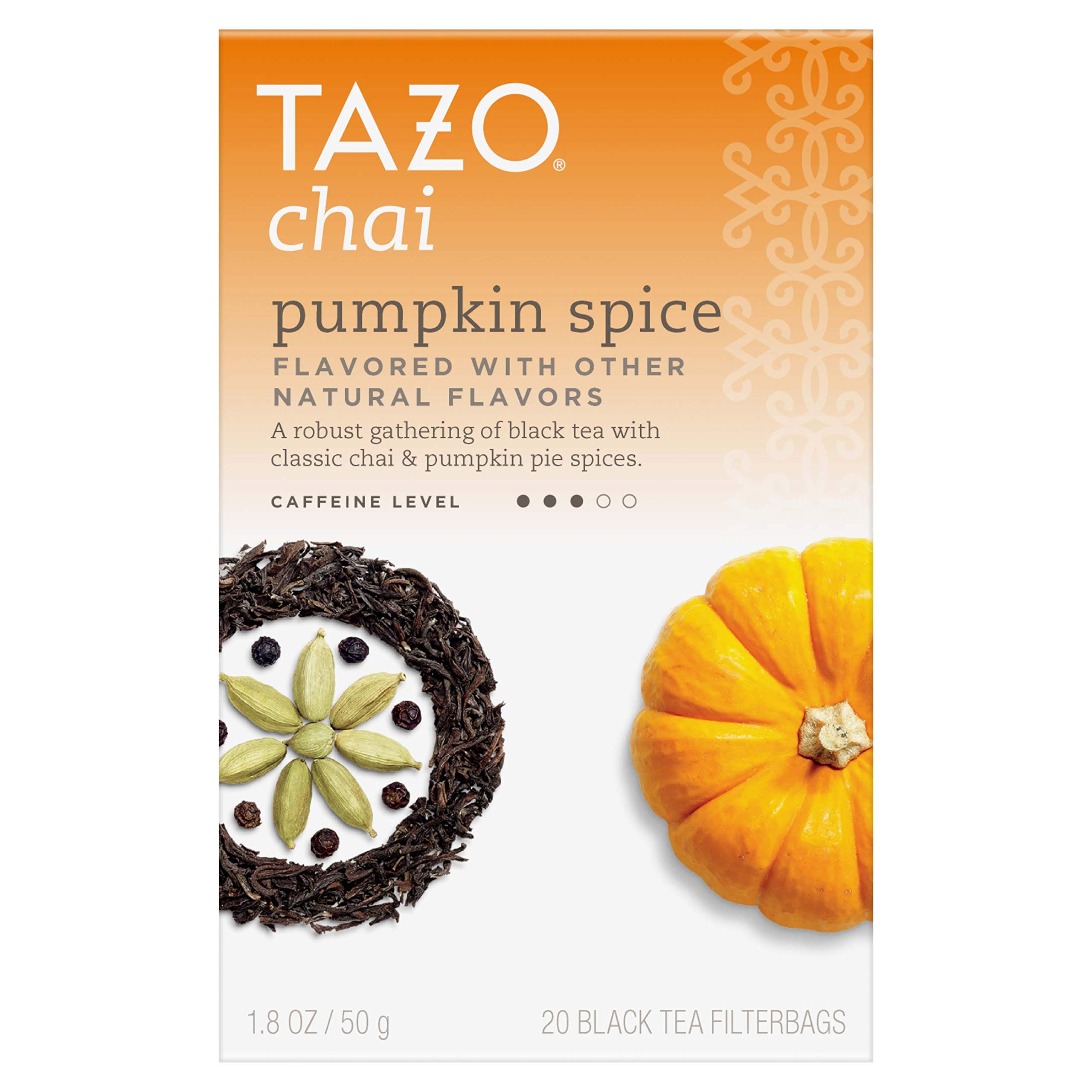 Tazo Chai Pumpkin Spice Tea 20 ct (Pack of 6)