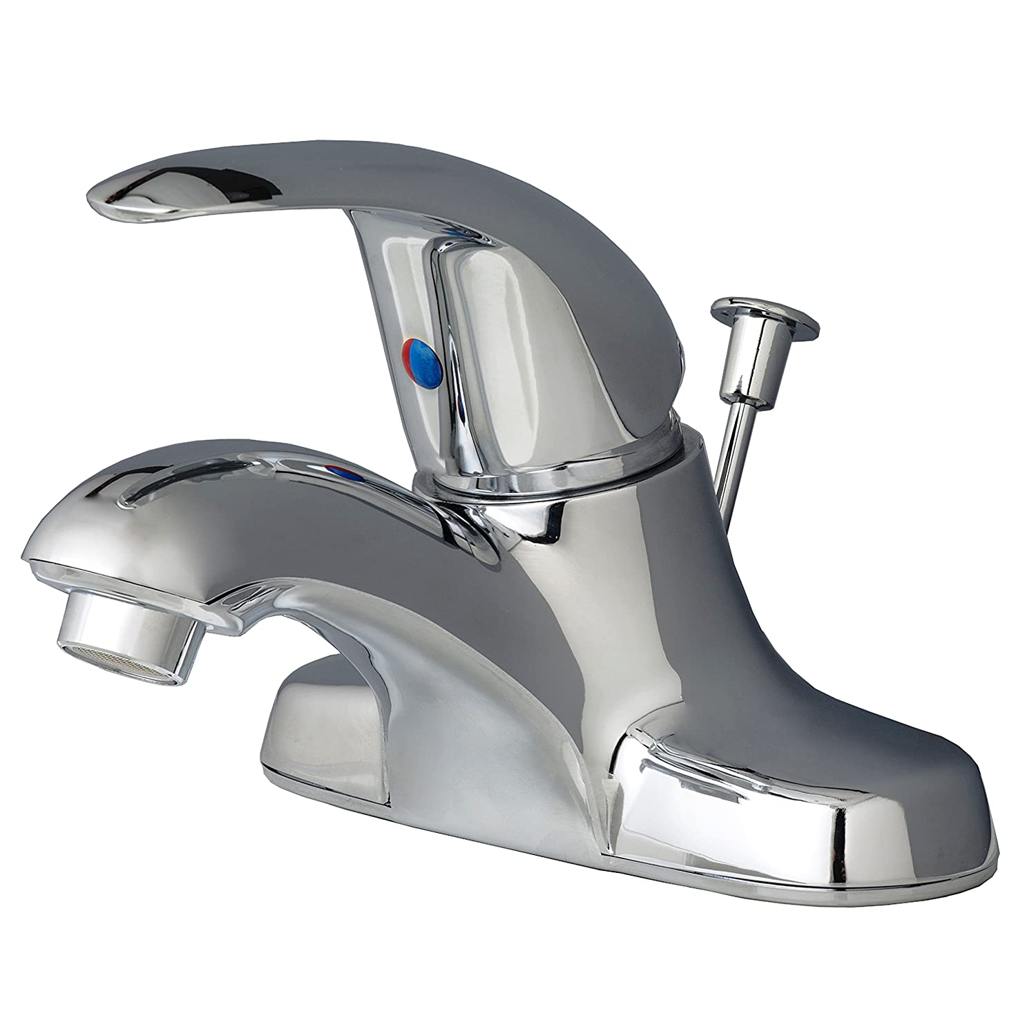Chrome Finish Builders Shoppe 2041BN Single Handle Centerset Lavatory Faucet with Pop-Up Drain, Brushed Nickel Finish by Builders Shoppe