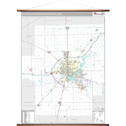 Amazon Com Marketmaps Decatur Il Metro Area Wall Map 2018 Zip