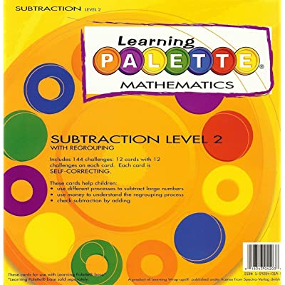 Learning Wrap-ups 2nd Grade Self Correcting Subtraction Learning Palette: Toys & Games