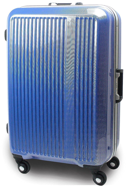 [サクセス] スーツケース 3サイズ( 大型 78cm / ジャスト型 72cm / 中型 67cm 軽量 安心フレーム TSAロック 搭載 新型 マチュア ジャスト型 Jサイズ(72cm) ブルーストライプ B00W8YZJ1Q