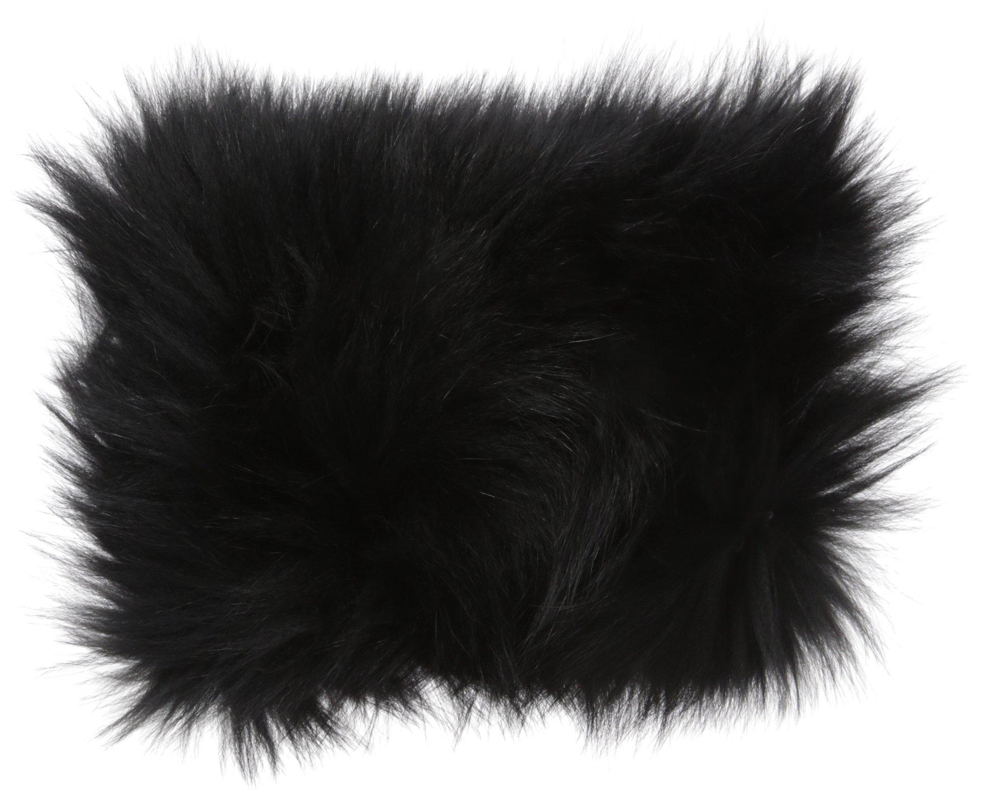 La Fiorentina Women's Fur Headband, Black One Size