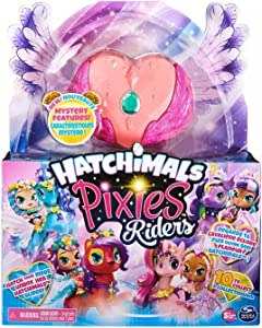 Hatchimal Pixies Riders, Radiant Roxy Pixie and Tigrette Glider Set with Mystery Feature