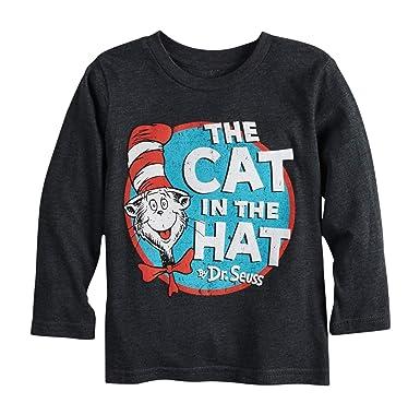 d5cb7608bfc Amazon.com  Dr. Seuss Cat in The Hat Little Kids Long Sleeve Shirt ...