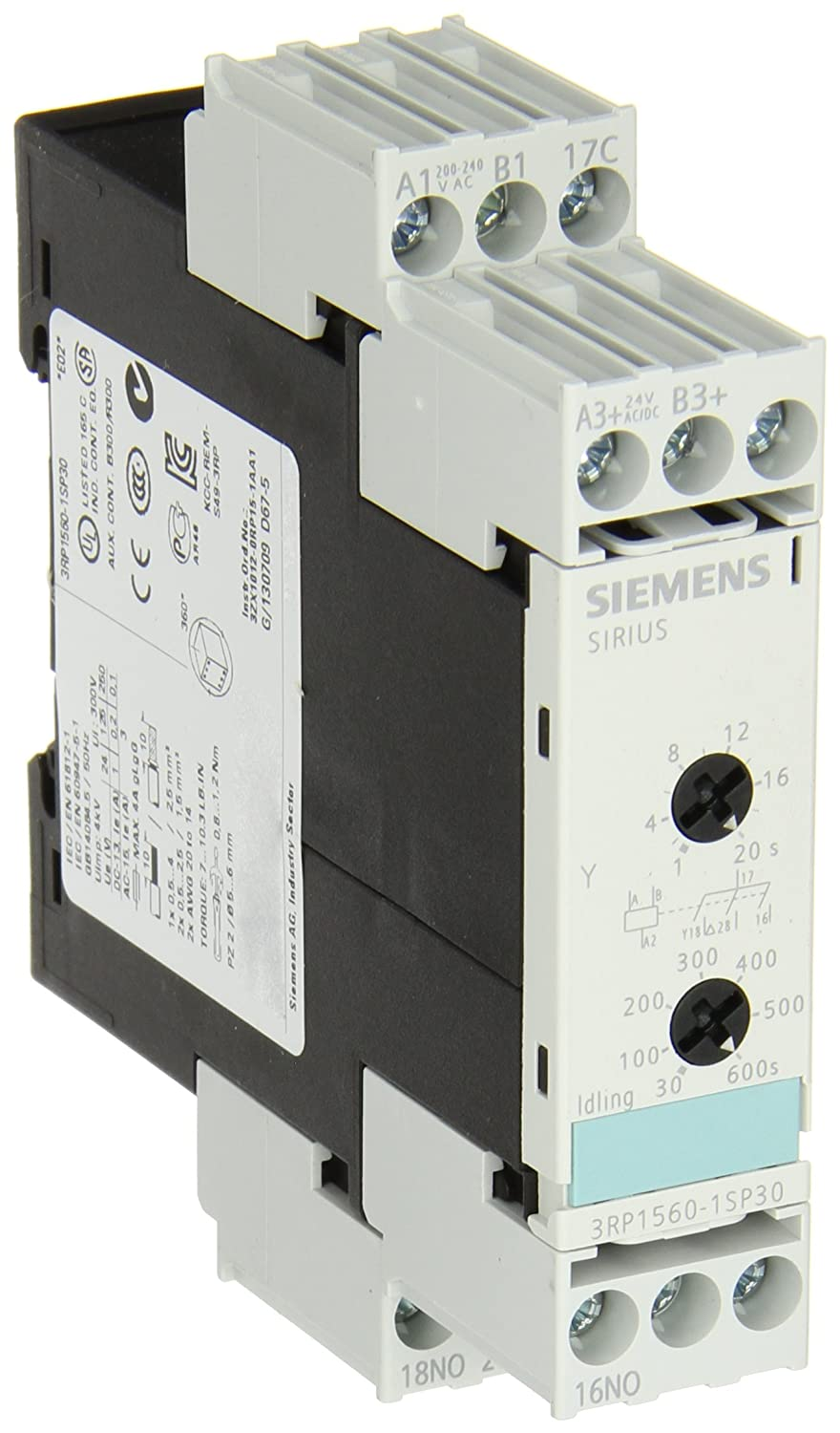Siemens 3RP1560-1SP30 Solid State Time Relay Industrial Housing 22 5
