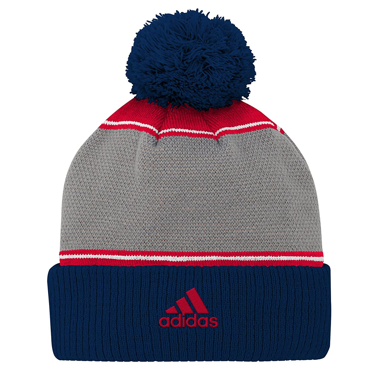MLS New England Revolution Youth Outerstuff Fan Cuffed Pom Hat Team Color Youth One Size