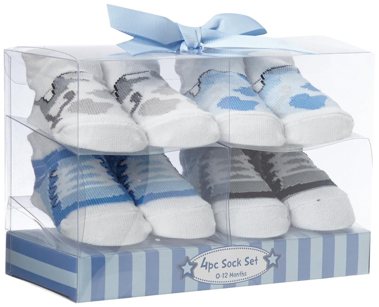 Cutie Pie Baby-Boys 4Pk Sock Set-Army Sneaker