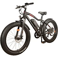 New! DJ Fat Bike 750W 48V 13Ah Power Electric Bicycle, Samsung Lithium-Ion Battery, 7 Speed, Matte Black, LED Bike Light, Suspension Fork and Shimano Gear