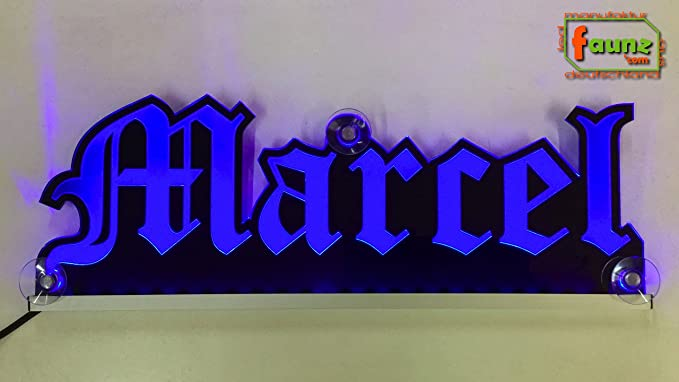 Marcel Azul LED Camiones Truck Cartel o su nombre ...