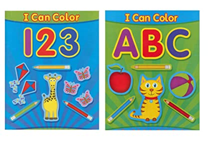 Amazon.com: Paper Craft Coloring Books for Kids, ABC and 123, I Can ...