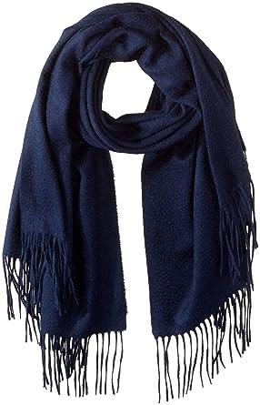 af5830741 Sofia Cashmere Women's Cashmere Self Fringe Scarf, navy, One Size at ...