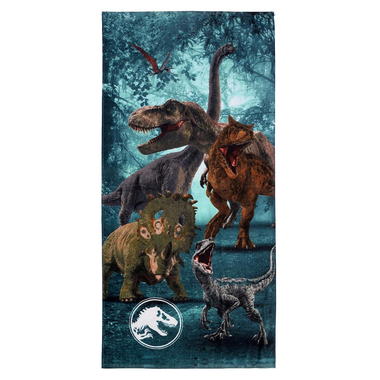 "Franco Kids Super Soft Cotton Beach Towel, 28"" x 58"", Jurassic World"