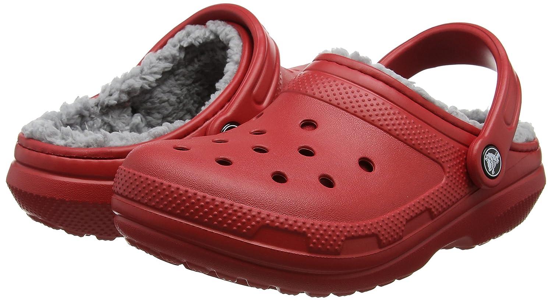 Crocs Unisex-Erwachsene Classic Lined Clogs (Pepper/Silver) Rot (Pepper/Silver) Clogs e904a4