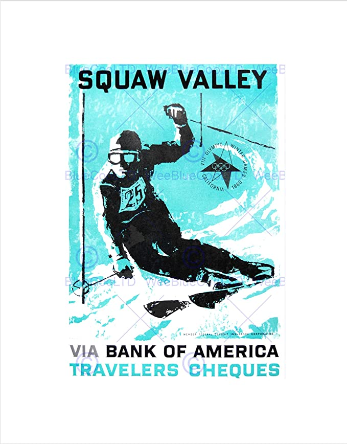 Amazon.com: Sport AD 1960 Winter Olympic Games Squaw Valley SKI ...