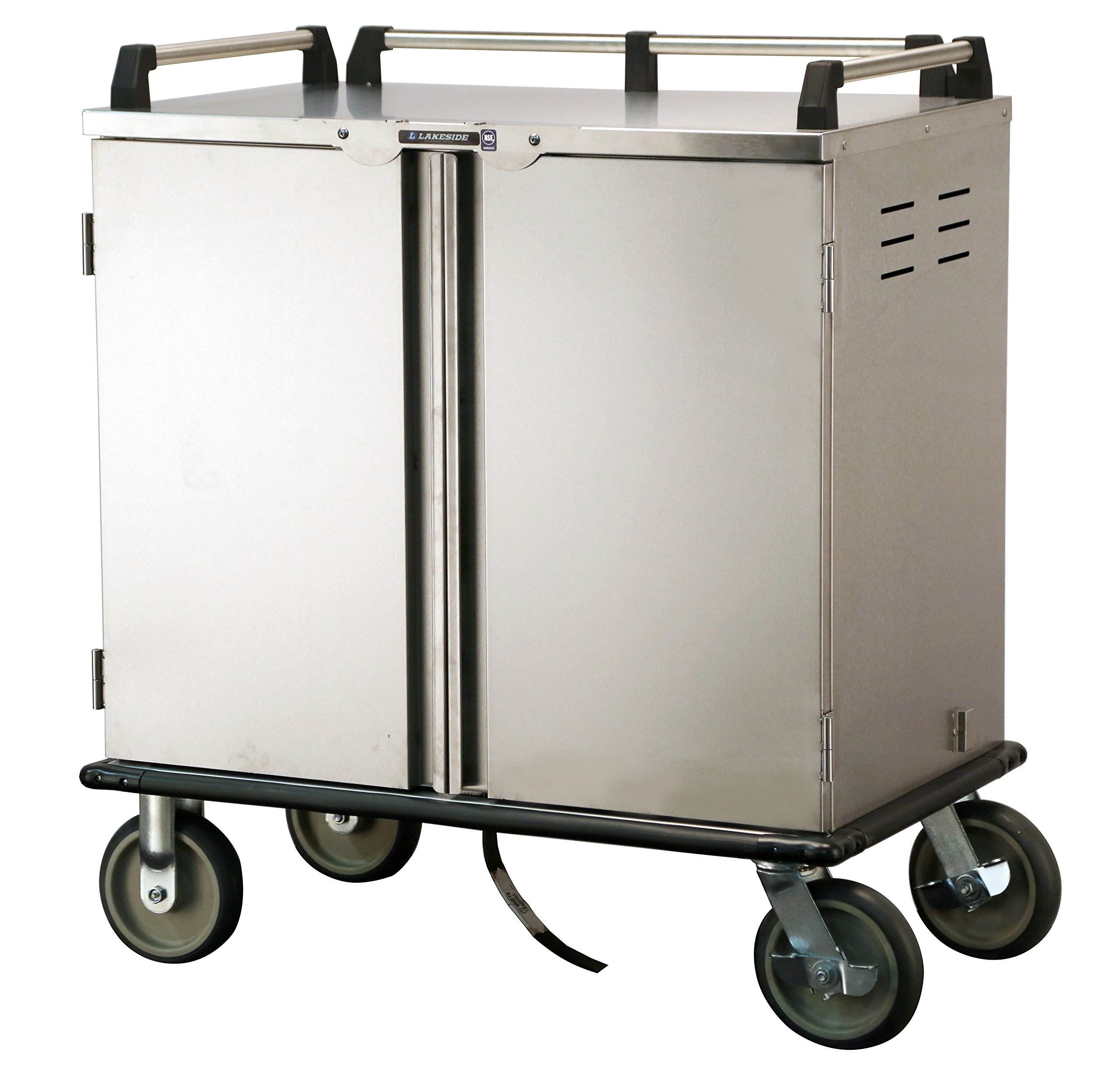 Lakeside 5510, Elite Series, Enclosed Room Service, Tray Delivery Cart; Stainless Steel, 12 Tray Capacity, 32-1/4'' x 36-3/4'' x 48-3/4'' by Lakeside (Image #1)