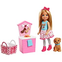 Barbie Sisters Chelsea Doll and Puppy Food Stand
