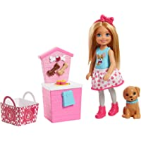 Barbie Sisters Chelsea Doll and Puppy Food Stand, Blonde