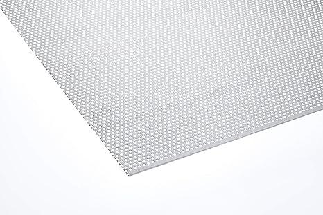 Edelstahl Lochblech Blech 3-5 Länge 500 mm 1,0 mm Stärke