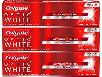 Colgate Optic White Whitening Toothpaste, Sparkling White