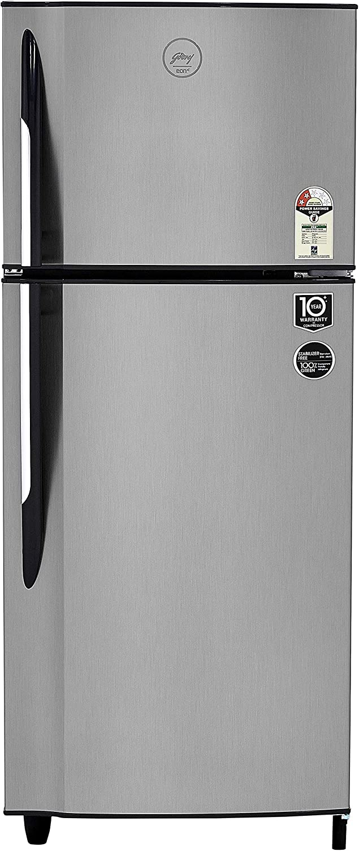 Godrej 236 L 2 Star Frost-Free Double-Door Refrigerator (R F GF 2362 PTH SLK STL, Sleek Steel)