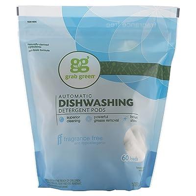 El detergente para lavavajillas automáticos, sin perfume, 60 ...